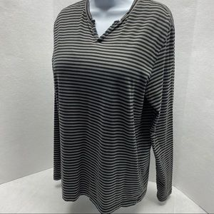 Kenneth Cole Reaction Basic Long Sleeve Stripe L